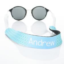 Correa de gafas de sol monogramada Aqua Circle