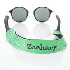 Correa de gafas de sol con monograma de círculo verde