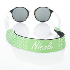 Círculo verde lima correa de gafas de sol monogramada