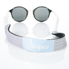 Correa de gafas de sol con monograma de círculo gris