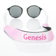 Correa de gafas de sol con monograma de círculo rosa