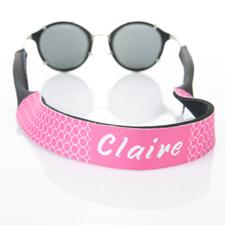 Correa de gafas de sol con monograma de círculo rosado caliente