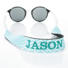Aqua símbolos correa de gafas de sol monogramada