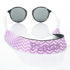 Bordado de símbolos de lavanda correa de gafas de sol con monograma Croakies
