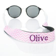 Símbolos rosados Bordado Monogramado correa de gafas de sol