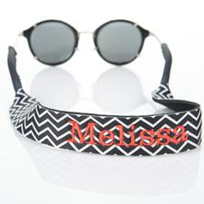 Símbolos negros Bordado Monograma correa de gafas de sol