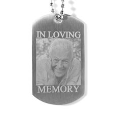 En la memoria amorosa grabado foto collar de etiqueta de perro
