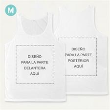 Camiseta tipo tank top unisex personalizada a todo color (parte delantera y trasera) (Medium)