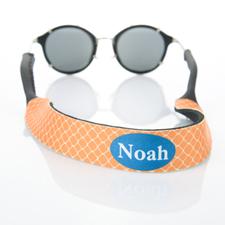 Trébol Naranja Monograma Personalizado correa de gafas de Sol