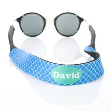 Trébol azul correa de gafas de sol a medida