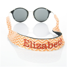 Bordado de símbolos personalizados naranjas Correa para gafas de sol