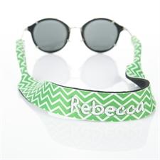 Símbolos verdes Bordado correa de gafas de sol
