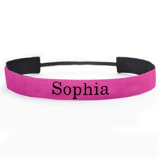 Banda para cabello personalizada color rosa 2.5 cm de ancho