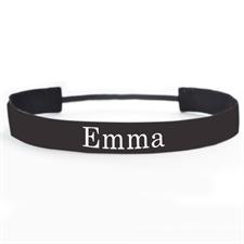Banda para cabello personalizada color negro. 2.5 cm de ancho