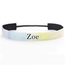 Banda para cabello personalizada con nombre diseño acuarella 2.5 cm de ancho