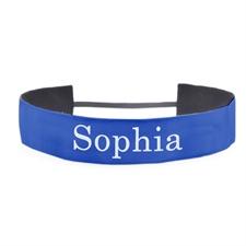 Banda para cabello personalizada color azul 3.8 cm de ancho