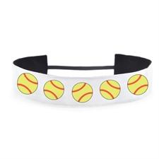 Banda para cabello diseño softball 3.8 cm de ancho