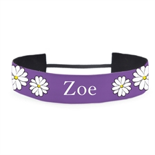 Banda para cabello personalizada color violeta 3.8 cm de ancho