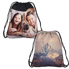 Foto personalizada con impresión completa de la mochila con cordel, grande