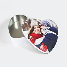 Caja de hojalata con forma de corazón personalizada, grande