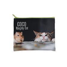 20.32x25.4 Bolsa cosmética con brillo de imagen personalizada, cremallera verde (2 lados personalizados)