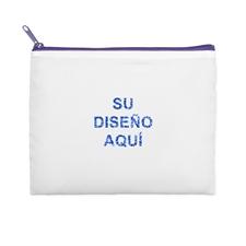 20.32x25.4 Bolsa cosmética con brillo de imagen personalizada, cremallera violeta (2 lados personalizados)