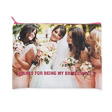 24.1x33 Bolsa cosmética con 2 lados diferentes imágenes con cremallera rosa