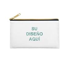 Bolsa cosmética con brillo de imagen personalizada 10.1x17.7, cremallera dorada (2 lados personalizados)