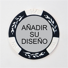 Personalizar diseño Two Tone White Poker Chip