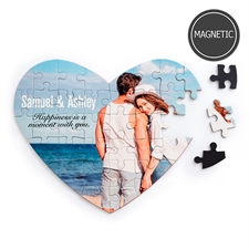 Personalizado Images and Message Heart-Shaped Magnetic Puzzle