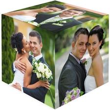 Personalizado 6 paneles Foto-cubo de Madera para Bodas
