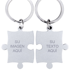 Custom Engraved Photo and Message rompecabezas Keyring