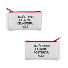 Bolsa cosmética personalizada de neopreno. Pequeña 8.8x15.2 (Imágenes diferentes)