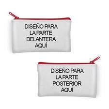 Bolsa cosmética con fotografía personalizada diferente fotografía por cada lado 10.1x17.7