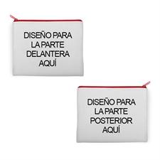 Bolsa de cosméticos de neopreno 2 lados diferentes imágenes 20.3X25.4
