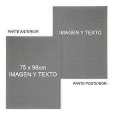 Rompecabezas personalizado de 2 lados con fondo de color y texto 74.9x97.7 cm, 2000 piezas