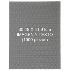 Rompecabezas personalizado de 1000 piezas 30.48 cm x 41.91 cm - Retrato