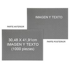 Doble cara personalizada 30.48 cm x 41.91 cm 1000 piezas  Rompecabezas mini - Paisaje