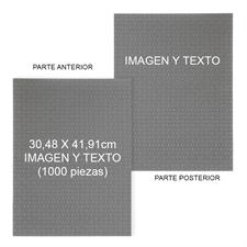 Doble cara personalizada 30.48 cm x 41.91 cm 1000 piezas  Rompecabezas mini - Retrato