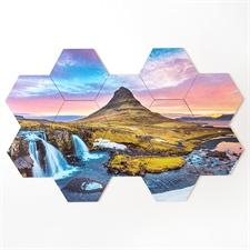 Diseñe su propio rompecabezas de posavasos hexagonales de 12 piezas