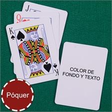 Naipes de motivo Mi propio póker con índice estandar color de fondo & texto
