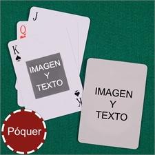 Naipes de motivo Mi propio pókerpókercon un retrato en el centro personalice los 2 lados