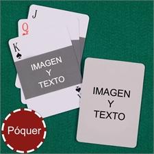 Naipes de motivo Mi propio póker con paisaje y imagenes personalice los 2 lados