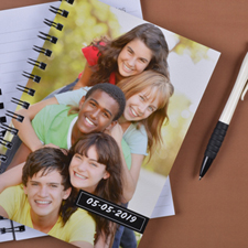 Create Your Own Full Photo Black One Title Notebook