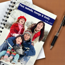 Create Your Own Full Photo Blue One Title Notebook