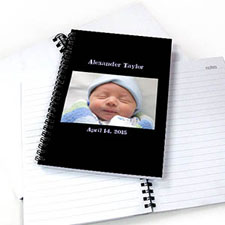 Create Your Own Landscape Photo Black Two Title Notebook