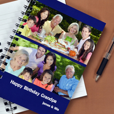 Create Your Own Blue Two Collage Two Title Notebook