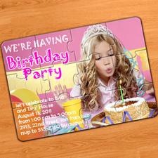 Rompecabzeas como invitación a la fiesta del cumpleaños