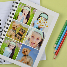 Create Your Own White Six Collage Notebook