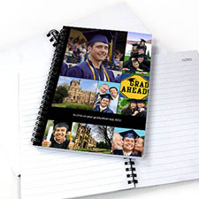 Create Your Own Black Nine Collage One Title Notebook